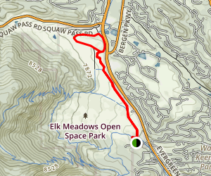 Painter's Pause and Noble Meadow Loop Map