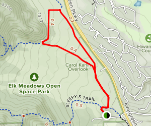 Founders Trail to Painters Pause Map