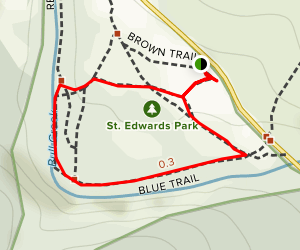 St. Edwards Park Greenbelt Trail Map