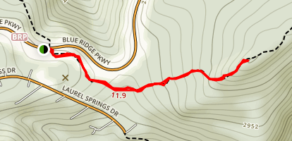 Dripping Rocks via Appalachian Trail Map