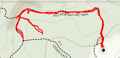 Bush Hill via Hillview Nature Trail Map