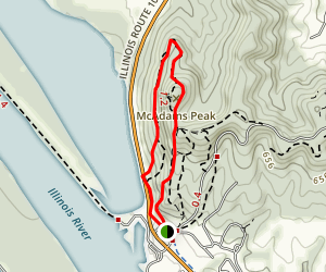 McAdams Peak Trail Map