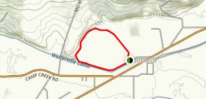 Walterville Pond Loop Map