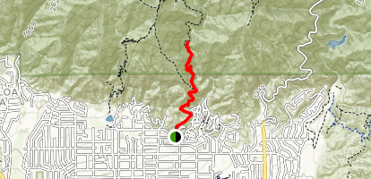 Mount Wilson to First Water Map