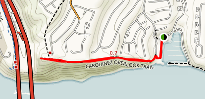 Carquinez Overlook Trail Map