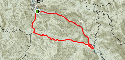 Cucumber Gap and Little River Loop Trail Map