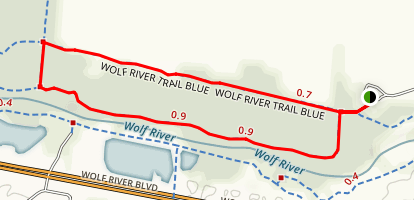 Wolf River Blue and Yellow Trail Loop Map