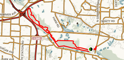 Wolf River Trails from TN 177 Map