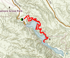 Del Valle Lake to Venadas Group Camp Map