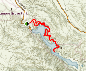 East Shore and Heron Bay Trail to Venadas Group Camp Map