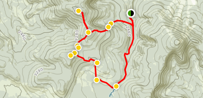 Crocker Mountain, South Crocker Mountain and Mount Redington Loop Map