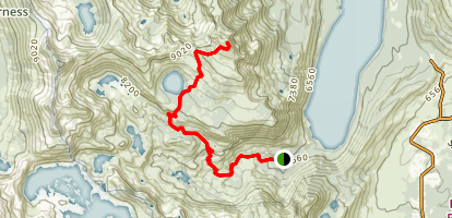 Mount Tallac Via Glen Alpine Spring Trail Map