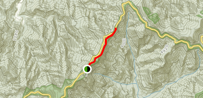 Bullhead Mountain and Locust Knob Map