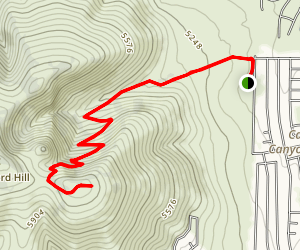 Glassford Hill to Towers Map