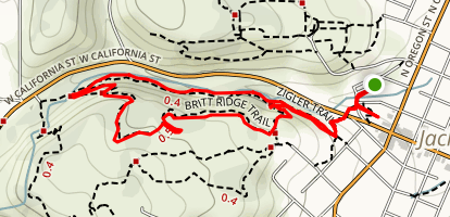 Zigler Trail and Britt Ridge Trail Map
