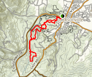 Petard Trail and Liz Trail Loop Map