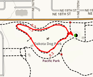 Dakota Dog Park Loop Map