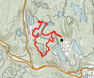 Blue, Green and Red Trail Loop Map