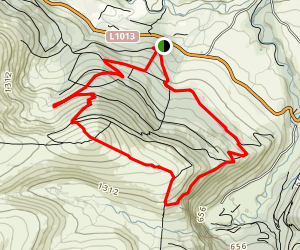Crone Wood and Maulin Mountain Map