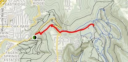 Tollgate Trail to North Monte Sano Overlook Map