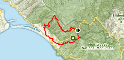 Dipsea Trail to Willow Camp Fire Road to Matt Davis Trail ... on