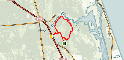 Powerline Trailhead, Red and White Blazes Map