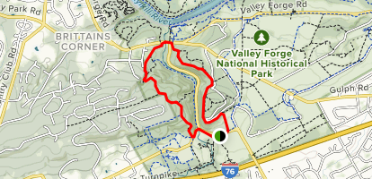 Mount Joy Trail to Mount Misery Trail Loop Map