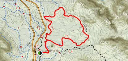 Baby Bell, Llama, and Bail Trail Map
