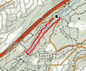Lake Surprise Loop- White and Purple Trail Map