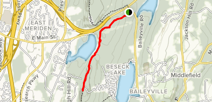 Beseck Mountain via Mattabesett Trail Map