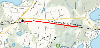 Lakelands Trail: Hamburg Section Map