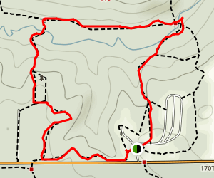 White Oak and Hidden Falls Loop Map