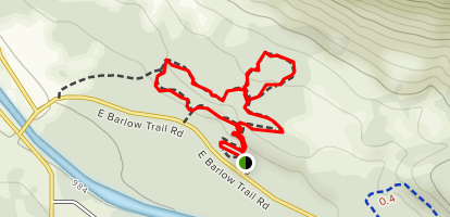 Little Joe Loop to Falls Trail and North Trail Map