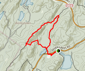 Stockbridge Mountain and Lake Nawahunta Map
