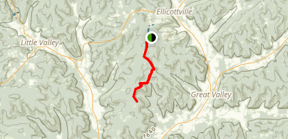 North Country Trail: McCarty Hill State Forest to Little Rock City Map