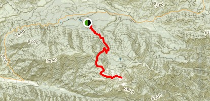 San Gorgonio Summit via South Fork  Map