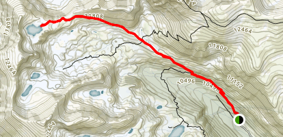 Arapahoe Pass and Lake Dorothy Trail Map