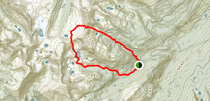 Missouri Lakes and Fancy Lakes Loop Trail Map