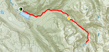 Cascade Creek Trail to Mirror Lake and Crater Lake  Map