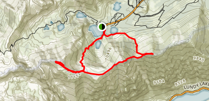 Three Summits At Virginia Lakes Map