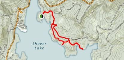 Shaver Lake Lakeview Trail Map