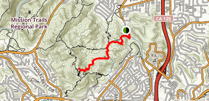 Cowles Mountain via Mesa Trail Map
