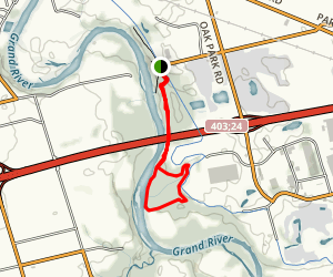 Westcast Loop Under Hwy 403 Map
