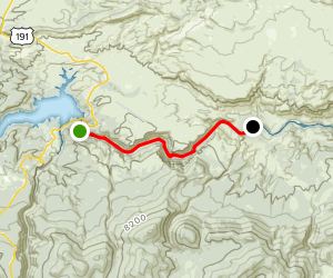 Flaming Gorge Dam to Little Hole River Float Map