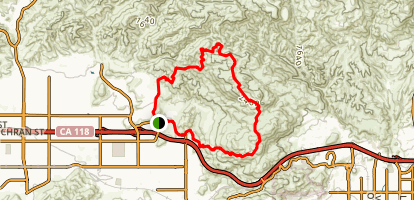 Hummingbird Trail to Rocky Peak to Chumash Trail Loop Map