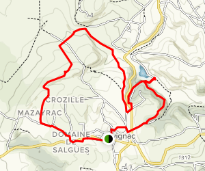 Alvignac Loop Map