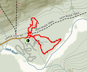 Spruce Nature Trail and Hall of Mosses Loop Map