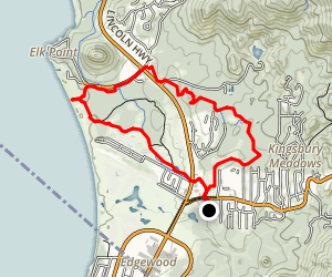 Kingsbury Pines / Nevada Beach Loop Map