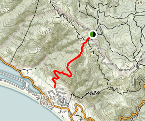 Willow Camp Fire Road to Stinson Beach Map