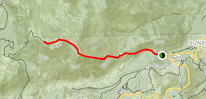Mount Rose Southeast Ridge Trail Map